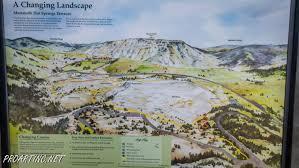 Mammoth Map Mammoth Spring In Yellowstone National Park Proartinc