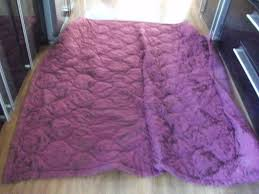 large purple throw bed cover duvet bedding 150 x 240cm by dunelm