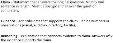 integrating the claim evidence reasoning framework into my