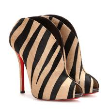 christian louboutin chester fille 120 open toe pony hair ankle