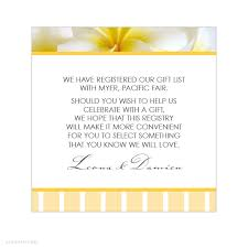 gift registry for bridal shower wedding gift registry wording imbusy for