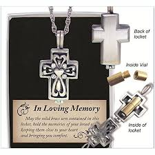 in loving memory lockets in loving memory cross locket with ash urn 24 inch chain