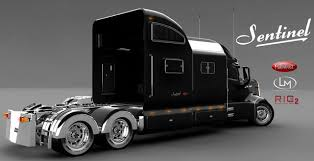concept semi truck closer look peterbilt sentinal concept semi truck cdllife