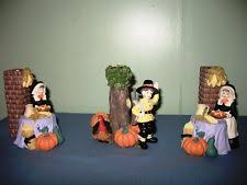 thanksgiving pilgrim candles resin candle holders décor ebay