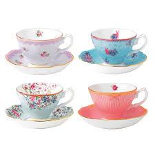 royal albert collection teacup saucer set 8pce s