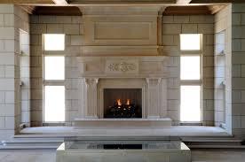 Custom Fireplace Surrounds by Large Limestone Fireplace Mantel