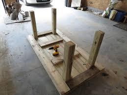 Diy Patio Table Easy Diy Patio Furniture Simple Table Details Tierra Este 75078