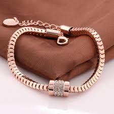 rose gold plated bracelet images Vgba194 brand name fashion bracelet top quality 18k rose gold jpg