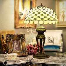 buy decorative stained glass lamp living room sofa corner retro