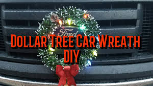 jeep christmas wreath dollar tree diy car wreath youtube