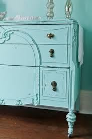 antique dresser shabby chic distressed aqua blue tiffany cottage