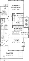 Southern Living Floorplans Canton Row Southern Living House Plans