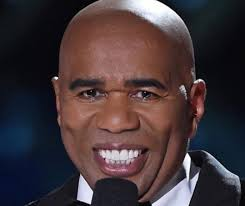 steve harvey without a mustache is getting memed to baggy suit