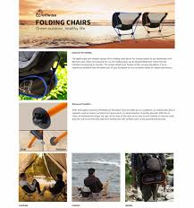 Lightweight Beach Chairs Uk Wolfwise Portable Folding Camping Chairs Backpack Carry Bag