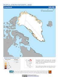 Greenland Map Maps Population Density Grid V1 Sedac