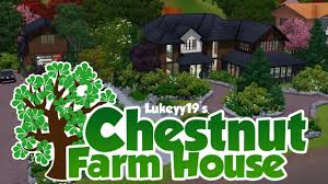Home Design For The Sims 3 The Sims 3 House Building Chestnut Farm House Youtube