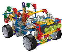 amazon com k u0027nex 4 wheel drive truck building set toys u0026 games