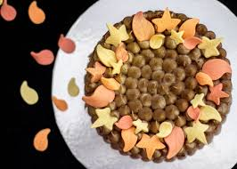 easy celebration chocolate fall cake 12 steps with pictures