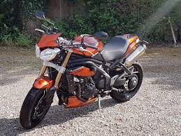 triumph speed triple 1050 abs 2013 in burnt orange in leiston