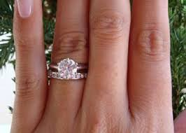 engagement rings ta a solitaire engagement ring with a channeled wedding band 9 26