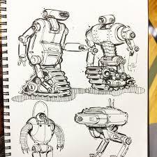 domo arigato robot concept illustration drawing sketch