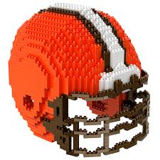 cleveland browns nfl 3d helmet brxlz puzzle by forever collectibles