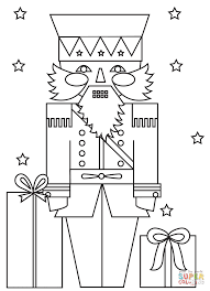 christmas nutcracker soldier coloring page free printable