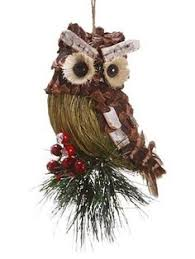 pine cone twig owls owl ornament owl and ornament
