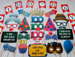 photo booth diy pdf 100th day of school photo booth props printable diy