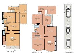 Kerry Campbell Homes Floor Plans by 357 359 Chenery Street San Francisco Ca 94131 Sold Listing