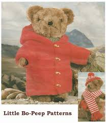 teddy clothes vintage teddy clothes duffle coat hat and scarf knitting