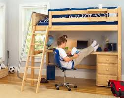Wood Loft Bed With Desk Plans by Best 25 Twin Size Loft Bed Ideas On Pinterest Bunk Bed Mattress