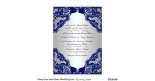 31 navy and silver wedding invitations vizio wedding