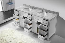 virtu usa caroline parkway 72 bathroom vanity cabinet in white
