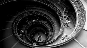 the famous double spiral staircase at the vatican museums