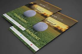 15 free golf flyer templates psd and poster mockups