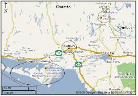 map of pairs map of northern ontario illustrating the three regions manitoulin