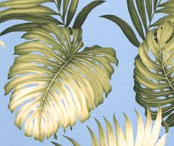 tropical hawaiian upholstery monstera palm leaf tapestry fabric