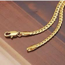 gold filled chain necklace images Fashion jewelry necklace 500mm 18k yellow gold filled snake chain JPG