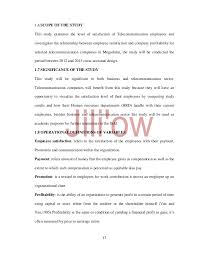Request Letter For Certification Of Employment Sles Employee Satisfaction U0026 Profitability For Some Selected Telcommunica U2026
