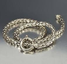 sterling silver snake chain bracelet images Vintage italian silver snake chain necklace boylerpf jpg