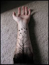 black tree tattoo design for men on arm tattoos book 65 000