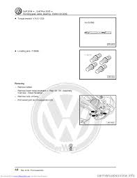 volkswagen golf 2004 1j 4 g running gear axles workshop manual