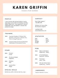 Resume Stanford Pink White Boxes Minimalist Acting Resume Templates By Canva