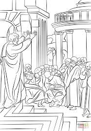 paul preaching in athens coloring page free printable coloring pages
