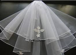holy communion veils white ivory communion veil 2 tier holy communion veil with