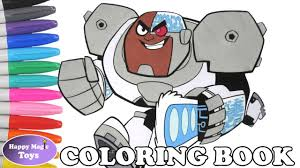 teen titans go cyborg coloring book pages teen titans go cyborg