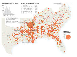 Nytimes Election Map by New York Times Graphic Mapping 73 Years Of Lynchings In The U S