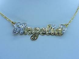 14k gold name plates personalized 14k gold plated name plate chain necklace choose