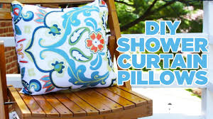 Outdoors Shower Curtain by Turn A Shower Curtain Into Outdoor Pillows Youtube